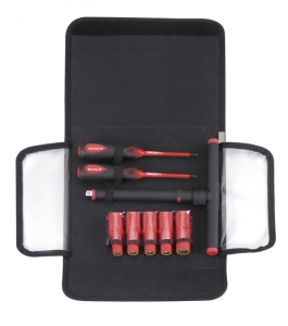 "9PC 3/8""DR.T-HANDLE & SCREWDRIVER SET-1000V AC INSULATED -VDE TESTED AND GS APPROVAL"