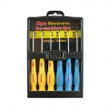 13 6PC PRECISION SCREWDRIVER SET-SLOTTED & PHILLIPS FIT