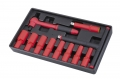 10 12PC 12DR.REVERSIBLE RATCHET SET-1000V AC INSULATED -VDE TESTED AND GS APPROVAL