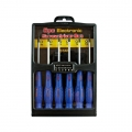 14 6PC PRECISION SCREWDRIVER SET-SLOTTED & PHILLIPS FIT