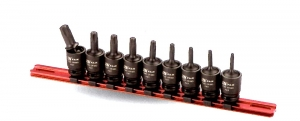 "9PC 1/2""Dr. IMPACT UNIVERSAL BIT SOCKET SET-TORX"